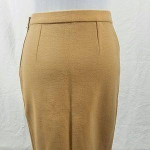 Dresses & Skirts - Vintage Beige 100% Wool Pencil Skirt, Sz10